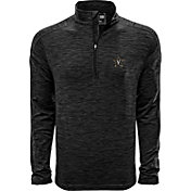 Levelwear Men's Virginia Commonwealth Rams Grey Armour Quarter-Zip Shirt