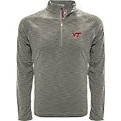 Levelwear Men's Virginia Tech Hokies Grey Mobility Long Sleeve Quarter-Zip Shirt