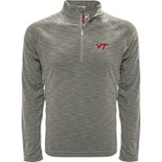 Levelwear Men's Virginia Tech Hokies Grey Mobility Long Sleeve Quarter-Zip Shirt