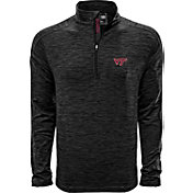 Levelwear Men's Vanderbilt Commodores Grey Armour Quarter-Zip Shirt
