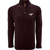 Levelwear Men's Virginia Tech Hokies Maroon Metro Quarter-Zip Pullover