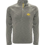 Levelwear Men's Iowa Hawkeyes Grey Mobility Long Sleeve Quarter-Zip Shirt