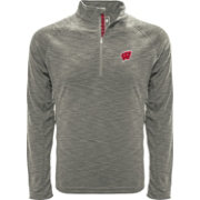 Levelwear Men's Wisconsin Badgers Grey Mobility Long Sleeve Quarter-Zip Shirt