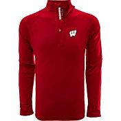 Levelwear Men's Wisconsin Badgers Red Metro Quarter-Zip Pullover