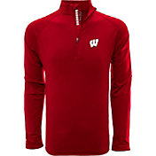 Levelwear Men's Wisconsin Badgers Red Metro Quarter-Zip Pullover