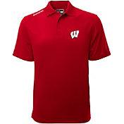 Levelwear Men's Wisconsin Badgers Red Helium Polo