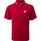 Levelwear Men's Wisconsin Badgers Red Tactical Polo