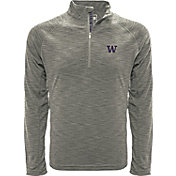 Levelwear Men's Washington Huskies Grey Mobility Long Sleeve Quarter-Zip Shirt