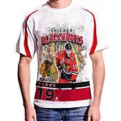Levelwear Men's Chicago Blackhawks Jonathan Toews #19 Center Ice White T-Shirt