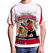Levelwear Men's Chicago Blackhawks Patrick Kane #88 Center Ice White T-Shirt