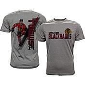 Levelwear Men's Chicago Blackhawks Jonathan Toews #19 Grey Spectrum T-Shirt