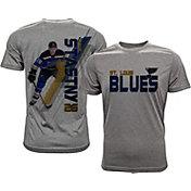 Levelwear Men's St. Louis Blues Paul Statsny #26 Grey Spectrum T-Shirt