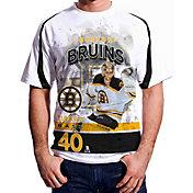Levelwear Men's Boston Bruins Tuukka Rask #40 Center Ice White T-Shirt
