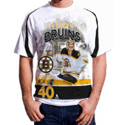 Levelwear Men's Boston Bruins Tuukka Rask #40 Center Ice White T-Shirt