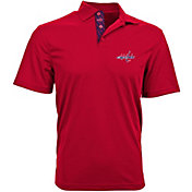 Levelwear Men's Washington Capitals Red Skate Lace Omaha Polo