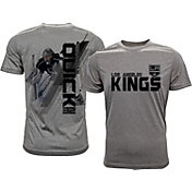 Levelwear Men's Los Angeles Kings Jonathan Quick #32 Grey Spectrum T-Shirt