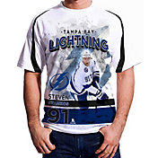 Levelwear Men's Tampa Bay Lightning Steven Stamkos #91 Center Ice White T-Shirt
