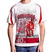 Levelwear Men's Detroit Red Wings Henrik Zetterberg #40 Center Ice White T-Shirt