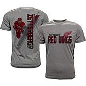 Levelwear Men's Detroit Red Wings Henrik Zetterberg #40 Grey Spectrum T-Shirt