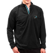 Levelwear Men's San Jose Sharks Black Metro Quarter-Zip Pullover