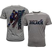 Levelwear Men's Colorado Avalanche Nathan MacKinnon #29 Grey Spectrum T-Shirt