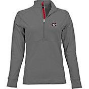 Levelwear Women's Georgia Bulldogs Grey Harmony Quarter-Zip