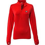 Levelwear Women's Georgia Bulldogs Red Pacer Quarter-Zip
