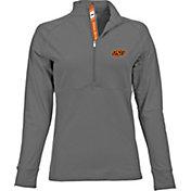 Levelwear Women's Oklahoma State Cowboys Grey Harmony Quarter-Zip