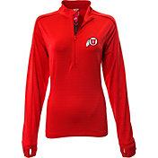 Levelwear Women's Utah Utes Crimson Pacer Quarter-Zip