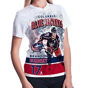 Levelwear Women's Columbus Blue Jackets Brandon Dubinsky #17 Center Ice White T-Shirt