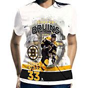 Levelwear Women's Boston Bruins Zdeno Chara #33 Center Ice White T-Shirt