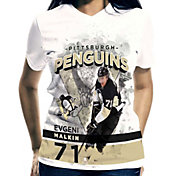 Levelwear Women's Pittsburgh Penguins Evgeni Malkin #71 Center Ice White T-Shirt