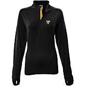 Levelwear Women's Pittsburgh Penguins Pacer Black Quarter-Zip Shirt