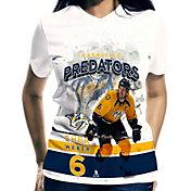 Levelwear Women's Nashville Predators Shea Weber #6 Center Ice White T-Shirt
