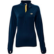 Levelwear Women's Nashville Predators Pacer Navy Quarter-Zip Shirt