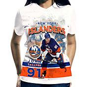 Levelwear Women's New York Islanders John Tavares #91 Center Ice White T-Shirt