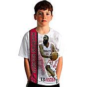 Levelwear Youth Houston Rockets James Harden Breakaway White T-Shirt