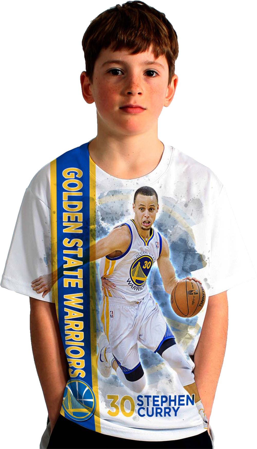 Golden State Warriors Boys Jacket - Product image levelwear youth golden state warriors steph curry breakaway white t shirt