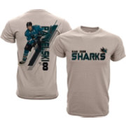 Levelwear Youth San Jose Sharks Joe Pavelski #8 Charcoal Spectrum T-Shirt