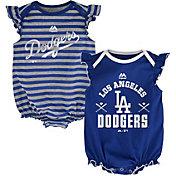 Majestic Infant Los Angeles Dodgers Two-Piece Sparkle Onesie Set
