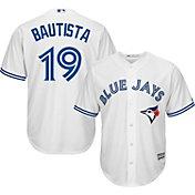 Majestic Men's Replica Toronto Blue Jays Jose Bautista #19 Cool Base Home White Jersey