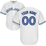 Majestic Men's Custom Cool Base Cooperstown Replica Toronto Blue Jays White Jersey