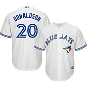 Majestic Men's Replica Toronto Blue Jays Josh Donaldson #20 Cool Base Home White Jersey