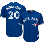 Majestic Men's Replica Toronto Blue Jays Josh Donaldson #20 Cool Base Alternate Royal Jersey