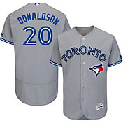 Majestic Men's Authentic Toronto Blue Jays Josh Donaldson #20 Road Grey Flex Base On-Field Jersey