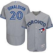 Majestic Men's Authentic Toronto Blue Jays Josh Donaldson #20 Road Grey Flex Base On-Field Jersey