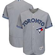 Majestic Men's Authentic Toronto Blue Jays Road Grey Flex Base On-Field Jersey