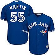 Majestic Men's Replica Toronto Blue Jays Russell Martin #55 Cool Base Alternate Royal Jersey