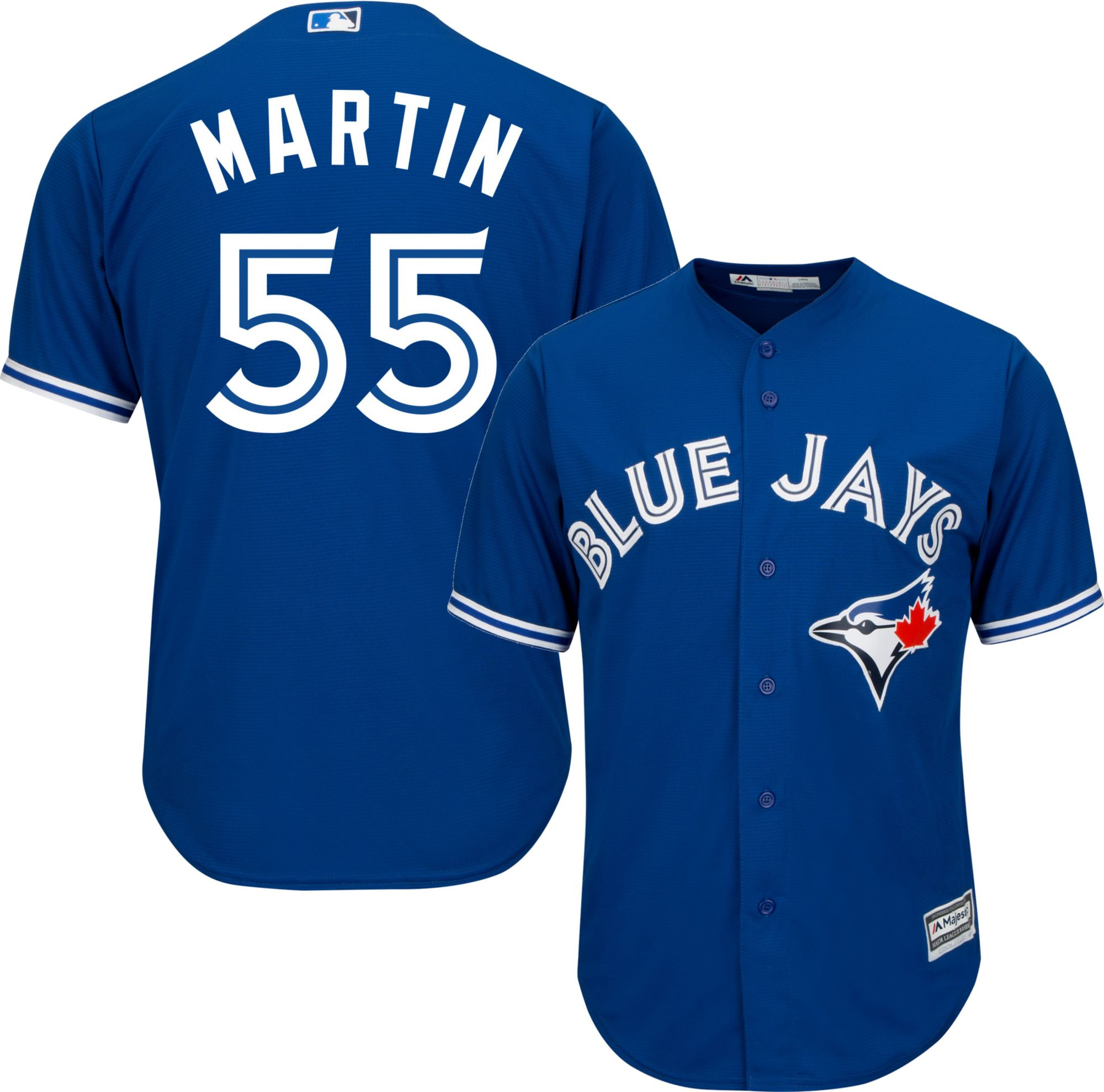 Majestic Men's Replica Toronto Blue Jays Russell Martin #55 Cool Base  Alternate Royal Jersey. 0:00. 0:00 / 0:00. noImageFound ???