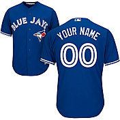 Majestic Men's Custom Cool Base Replica Toronto Blue Jays Alternate Royal Jersey